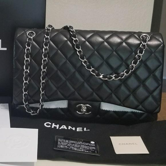 e5b532600d66 CHANEL Bags | Classic Maxi Single Flap Shw Lambskin | Poshmark